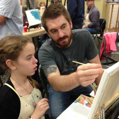 Daddy & Daughter Art Class