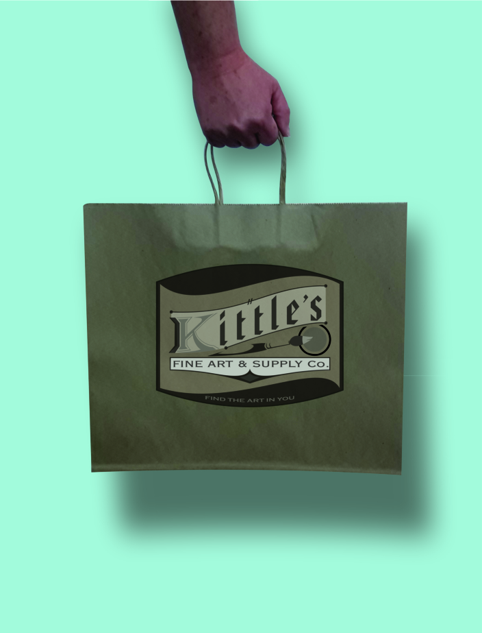Kittle's Fine Art & Supply shopping bag (image)