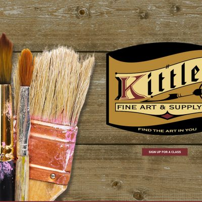 Kittle's Fine Art home page thumbnail (image)